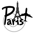 Travel paris creative design of Royalty Free Stock Photo