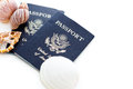 Travel passport unites states of america on a white background Stock Images