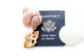 Travel passport unites states of america on a white background Stock Photography