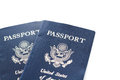 Travel passport unites states of america on a white background Royalty Free Stock Photos
