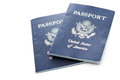 Travel passport unites states of america on a white background Royalty Free Stock Photo