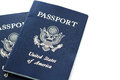 Travel passport unites states of america on a white background Stock Photos