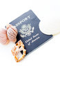 Travel passport unites states of america on a white background Royalty Free Stock Photography
