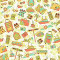 Travel pattern seamless with symbols Stock Photo