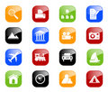 Travel and Photo icons - color series Royalty Free Stock Photo