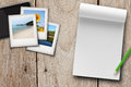 Travel plan, blank note book Stock Photography