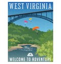 Travel poster or sticker. United States, West Virginia,