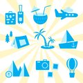 Travel, recreation and vacation vector set
