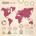 Travel retro infographics elements on paper background Royalty Free Stock Images