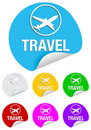 Travel, round stickers Royalty Free Stock Image