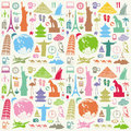 Travel seamless background pattern vector illustration Stock Images