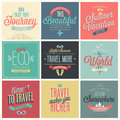 Travel set labels and emblems vector illustration Stock Images