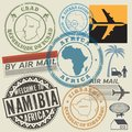 Travel stamps or symbols set Africa Royalty Free Stock Photo