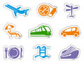 Travel stickers Royalty Free Stock Photos