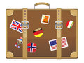 Travel suitcase vector illustration eps Royalty Free Stock Photos