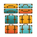 Travel suitcases over white background vector illustration Stock Image