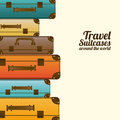 Travel suitcases over white background vector illustration Royalty Free Stock Images