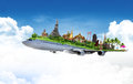 Travel thailand by airplane concept Royalty Free Stock Image