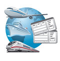 Travel tickets icon illustration of Royalty Free Stock Photo