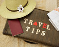 Travel tips Royalty Free Stock Photo