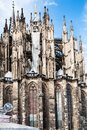 Soapbubbles and Cologne Cathedral Royalty Free Stock Photo