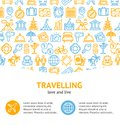 Travel and Tourism Concept Infographics Banner. Vector
