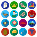 Travel, tourism, ecology and other web icon in flat style. tool, mushroom, forest icons in set collection.