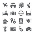 Travel and tourism icon set vector eps Stock Photos