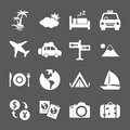 Travel and tourism icon set vector eps Royalty Free Stock Photos