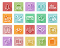 Travel and tourism icons Royalty Free Stock Photo