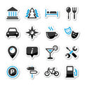 Travel tourism icons set -  Royalty Free Stock Photo