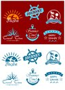 Travel and tourism symbols with scripts for design Stock Photography