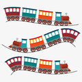 Travel by train concept icon Royalty Free Stock Photo