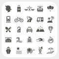 Travel and transportation icon set eps don t use transparency Royalty Free Stock Image