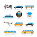 Travel and transportation of people icons Royalty Free Stock Image