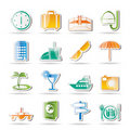 Travel, trip and tourism icons Royalty Free Stock Image