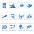 Travel and Vacation icon II Royalty Free Stock Photos