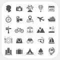 Travel and vacation icons set eps don t use transparency Stock Images