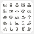 Travel and vacation icons set eps don t use transparency Stock Image