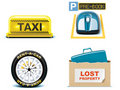 Travel and vacations icons. Part 2 Royalty Free Stock Images