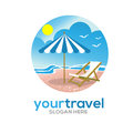 Travel and vacations logo Royalty Free Stock Photo