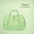 Travel vector background in retro green tints this is file of eps format Royalty Free Stock Photos