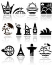 Travel vector icons set eps file available Royalty Free Stock Photography