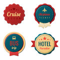 Travel vintage labels template collection tourism stickers Stock Photos