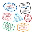 Travel visa stamps Royalty Free Stock Photo