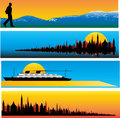 Travel Web Banner Templates Stock Photo