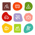 Travel web icons, colour spots series Royalty Free Stock Photo