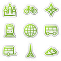 Travel web icons set 2 Royalty Free Stock Photo