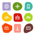 Travel web icons set 2, colour spots series Royalty Free Stock Photo