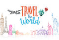 Travel The World Title Concept...